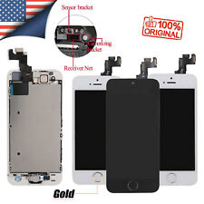 for iPhone 5 SE 5S Screen Replacement LCD Touch Digitizer Button Camera Assembly