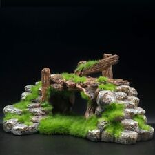 Resin Moss Cave Bridge Decor for Fish Tank Aquarium Ornament Free Shipping