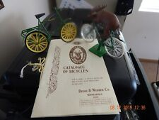 2 x John Deere 'Catalogue of Bicycles' (Reproduction) w/Deer on a Bicycle, 1993