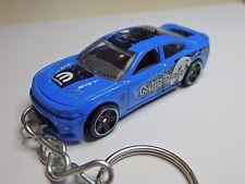 Hot Wheels 2015 Dodge Charger SRT8 6.4 Hemi Model Keychain Keyring