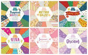 "Paper Addicts 6"" x 6"" Paper Pad - various - scrapbook cardmaking - FREE P&P"