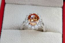 Unbranded Topaz Oval White Gold Filled Costume Rings