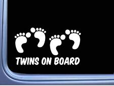 Zone Tech 3x Twins On Board Magnet Safe Caution Safety Sign Children Magnetic