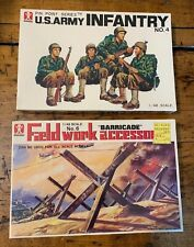 1/48 Bandai U.S.Army Infantry #4 Figures & Barricade Accessories #6 Model Kits