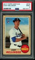 2017 Topps Heritage High Number Cody Bellinger RC #678 PSA 9 Mint Rookie Card