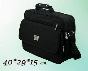 Herren Tasche Messenger Umhängetasche Laptop Arbeitstasche Schwarz 40* 29*15 cm