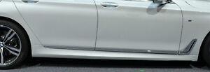 BMW OEM G11 7 Series Standard Wheelbase 2016-19 Chrome Door Side Strips Set Of 6