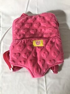 Build A Bear Accessories Pink Velour Hearts Carrier Backpack