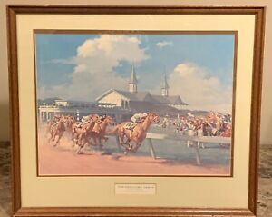 The Kentucky Derby by Haddon Sunbloom Painting 1914 Kentucky Derby Old Rosebud