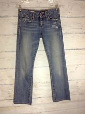 AG ADRIANO GOLDSCHMIED Blue Tomboy Jeans 27R Relaxed Straight Leg
