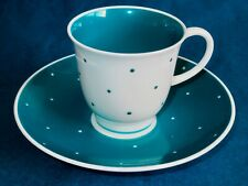 Susie Cooper Stunning Bold Blue Polka Dot Bone China Cup & Saucer