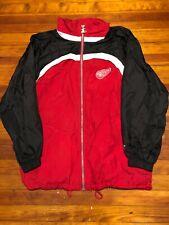 VTG 90s Starter Detroit Red Wings Windbreaker Jacket Red Men's XL NHL Hockey
