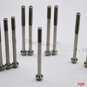 4pcs Titanium M6 x 70/80mm Flange Head Bolts Ti Screws