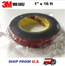 """3M 1"""" x 16 ft  VHB Double Sided Foam Adhesive Tape 5952 Automotive Mounting US"""