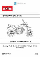Aprilia parts manual book 2013 & 2014  Dorsoduro 750 - ABS