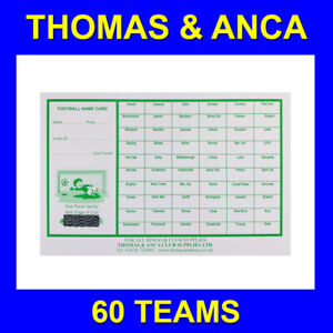 50 Football Cards Charity Fundraising Football Scratch Cards  60 Team Bus Stops
