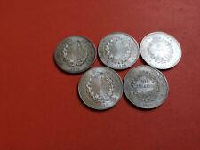 Lot 5 pièces argent 50 Francs Hercule année 1974 / 75 / 76 / 77 / 78 Lot n° 26