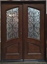 Sale! Solid Mahogany Wood Iron Double prehung & finished DMH7619