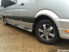 To Fit 06 - 14 Volkswagen Crafter MWB Stainless Steel Side Bars Steps Pads Tubes