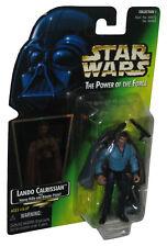 Star Wars Power of The Force Lando Calrissian Kenner Green Card Figure w/ Heavy