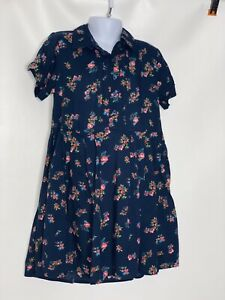Gap Kids Girls Blue Floral Rayon Dress Sz Small 6-7 NWT