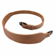 Shotgun Rifle Sling Buffalo Hide Leather Sling with Swivels Adjustable Strap
