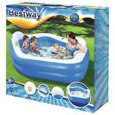 Bestway Large Family Paddling Pool Swim Centre With Seat Garden Inflatable Pool