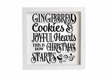 Christmas Cookies Joyful Hearts Decal Vinyl Sticker Box Frames Decoration Plaque