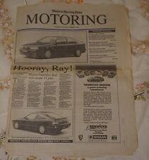 Western Morning News Motoring Supplement 1992 Cornwall & Devon Car Dealer Ads