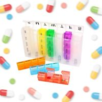 WEEKLY 7 DAY POP UP PILL BOX MEDICINE TABLET STORAGE ORGANISER DISPENSER HOLDER