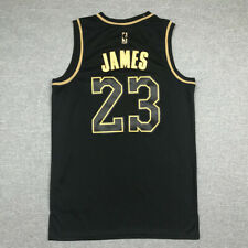 LeBron James #23 Los Angeles Lakers Camiseta Jersey Baloncesto Edición Oro Negro