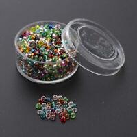 1000x bunt Glasperlen Spacer Perlen Anhänger für Kinder DIY Halskette
