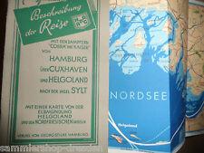 20593 HAPAG Beschreibung der Reise mit Dampfer Cobra Kaiser Nordsee 1930 Karte