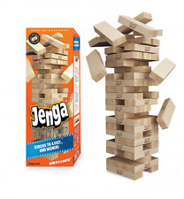 Jenga GIANT Hardwood Game, Stack up to 5 Foot,Polished Blocks 54-Pc  6 X 2 X 1.2