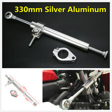 330mm Silver Anti-oxidation Motorcycle Aluminum Steering Damper Stabilizer Kit