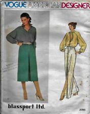 Vintage Vogue AMERICAN DESIGNER Pattern blassport ltd. BLOUSE & SKIRT sz 8