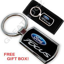 Ford focus voiture porte-clés key chain ring fob métal chromé neuf
