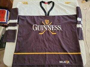 Vintage 2002 Guinness Beer Hockey NHL Jersey Size Large