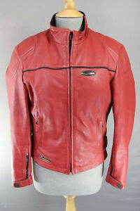 AMAZING AXO RED LEATHER BIKER JACKET 34 INCH/SMALL