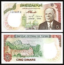 TUNISIE , TUNISIA 5 DINARS 1980 UNC but AUNC / UNC P-75 BOURGUIBA