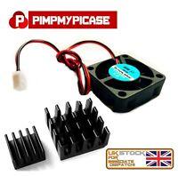 5V Cooling Fan for Raspberry Pi 2 3 Model B  A  B+  (  2 x Black Heatsink )