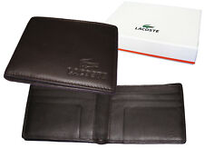 New Vintage LACOSTE City Classic (7) LEATHER WALLET Small Billfold Brown