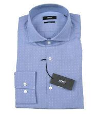 Boss Black Camicia di affari JASON in 40 (slim fit) BLU CON MODELLO
