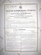 Y631-LOMB.VENETO-CREMONA-CASTEL PONZONE LICENZA VENDITA LIQUORI
