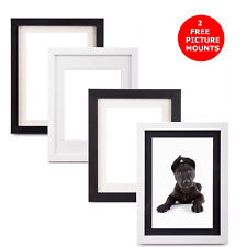 White & Black Photo Frames. 2 Free Picture Mounts. A2, A3, A4, 8x10, 8x12