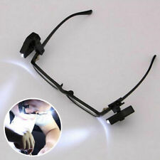 Universal Flexible LED Eyeglass Clip On Safety Glasses lights Tool Reading B1F5