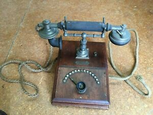 Ericson Telephone with original complete handset - Table /desk top - turn knob