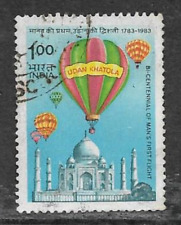 INDIA POSTAL ISSUE - 1983 - USED STAMP - 200th ANNIVERSARY OF BALLOON FLIGHT