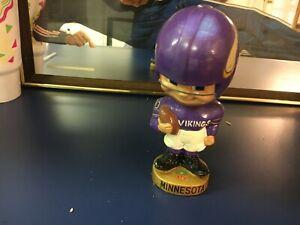 orig. early 1960's MINNESOTA VIKINGS NFL FOOTBALL TEAM TOES UP BOBBLE HEAD DOLL