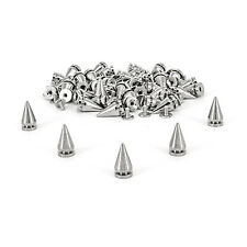 50 Pcs of 14mm Silver Screwback Rivets Spikes Studs For Bag Clothes Jacket Shoe